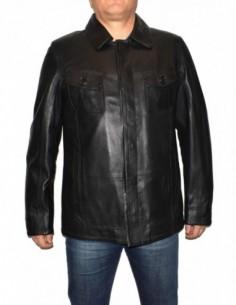 Haina barbati, piele naturala, marca Kurban, Cod 339-01-95, culoare negru