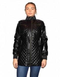 Haina dama, piele naturala, marca Kurban, Cod 403-01-95, culoare negru