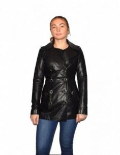 Haina dama, piele naturala, marca Kurban, Cod 31-01-95, culoare negru
