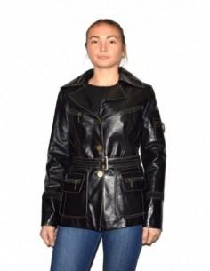 Haina dama, piele naturala, marca Kurban, Cod 888-01-95, culoare negru
