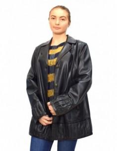 Haina dama, din piele naturala, marca Kurban, 19-01-95, negru