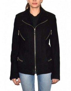 Haina dama, piele naturala, marca Kurban, Cod 89-01-95, culoare negru