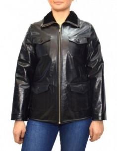 Cojoc dama, piele naturala, marca Kurban, Cod 246-01-95, culoare negru
