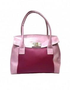 Poseta dama, piele naturala, marca Atelier Silvie, Cod SABINA-M8-50, culoare roz