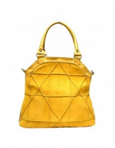 Poseta dama, piele naturala, marca Atelier Silvie, Cod JADA-08-50, culoare galben