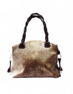 Poseta dama, piele naturala, marca Glitz, Cod 77-02-129, culoare maro