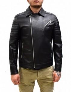 Haina barbati, piele naturala, marca Kurban, Cod 104-01-95, culoare negru