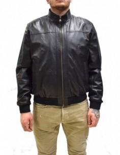 Haina barbati, piele naturala, marca Kurban, Cod 301-01-95-01, culoare negru