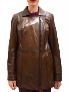 Haina dama, piele naturala, marca Kurban, Cod B-456-16-95, culoare maro