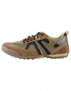 Pantofi sport barbati, piele naturala, marca Geox, Cod U2209G-B2-06, culoare bej