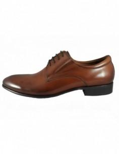 Pantofi eleganti barbati, piele naturala, marca Eldemas, Cod 9330-2BD-16-24, culoare coniac