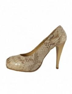 Pantofi dama, din piele naturala, marca Attitude, 1128-03-70, auriu