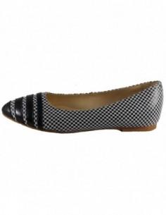 Pantofi dama, piele naturala, marca Savana, Cod 00-12-47-45, culoare alb cu negru