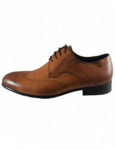 Pantofi eleganti barbati, piele naturala, marca Saccio, Cod A370-51C-16-17, culoare coniac