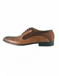 Pantofi eleganti barbati, piele naturala, marca Eldemas, Cod 9615-1633-16-24, culoare coniac