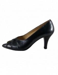 Pantofi dama, din piele naturala, marca Raxela, 13-N1-88, petrol