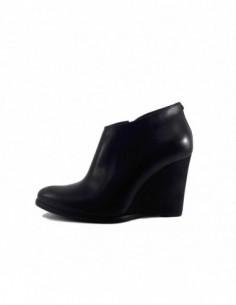 Botine dama, piele naturala, marca Badura, Cod 7279-01-16, culoare negru