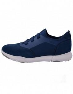 Adidasi barbati, textil si piele, marca Geox, Cod U825AA C4000-42, culoare bleumarin