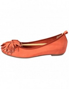 Balerini dama, piele naturala, marca Caprice, Cod 9-22121-20-11, culoare orange