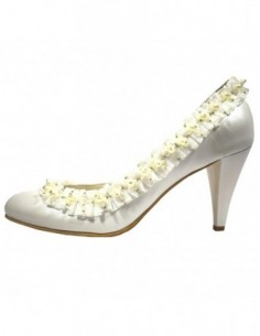 Pantofi de mireasa, piele naturala, marca Botta, Cod 313-K2, culoare alb