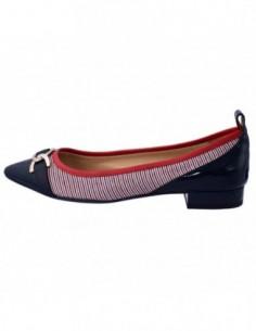 Balerini dama, piele si textil, marca Geox, Cod D829BA-C4181-G5-06, culoare bleumarin cu multicolor