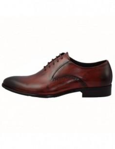 Pantofi barbati, piele naturala, marca Eldemas, Cod S8069-Y03-23-24, culoare visiniu