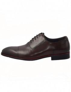 Pantofi barbati, piele naturala, marca Eldemas, Cod EL550-331-H-02-24, culoare maro
