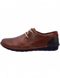 Pantofi barbati, piele naturala, marca Pikolinos, Cod M7B-4023-D8, culoare coniac cu bleumarin