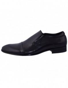 Pantofi barbati, piele naturala, marca Eldemas, Cod 9330-1AD-01-24, culoare negru