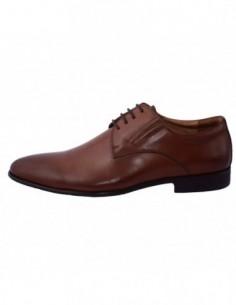 Pantofi barbati, piele naturala, marca Eldemas, Cod 9986-2BS-16-24, culoare coniac