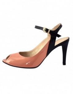 Sandale dama, din piele naturala, marca Guban, 3147-M2-07, nude cu negru