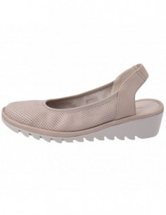 Pantofi decupati dama, piele naturala, marca Flexx, Cod A206-65-03, culoare bej