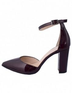 Pantofi decupati dama, piele naturala, marca Brenda Zaro, Cod T1328-E8-84, culoare visiniu inchis