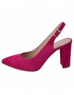 Pantofi decupati dama, piele naturala, marca Brenda Zaro, Cod T2568-81-84, culoare fucsia
