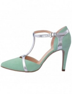 Pantofi decupati dama, piele naturala, marca Brenda Zaro, Cod T2572-B1-84, culoare verde deschis