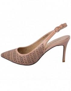 Pantofi decupati dama, piele naturala, marca Deska, Cod 33239--03-33, culoare bej