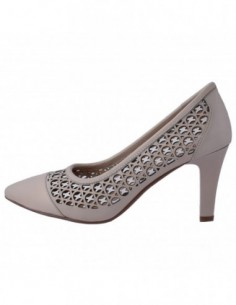 Pantofi perforati dama, piele naturala, marca Deska, Cod 33204-83-33, culoare alb cu bej