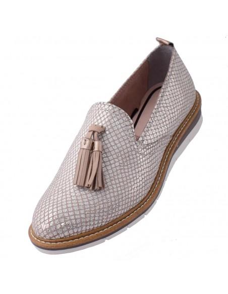 Pantofi Conphol din piele naturala nabuc rosu 1234S