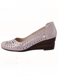 Pantofi perforati dama, piele naturala, marca Formenterra, Cod A23K348862-10-29, culoare roze
