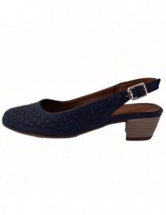 Pantofi decupati dama, piele naturala, marca Formenterra, Cod A23K3421-42-29, culoare bleumarin