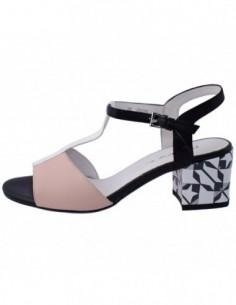 Sandale dama, piele naturala, marca Deska, Cod 33265-92-33, culoare roz cu negru
