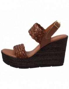 Sandale dama, piele naturala, marca Carla Sellini, Cod 9882252-02-120, culoare maro