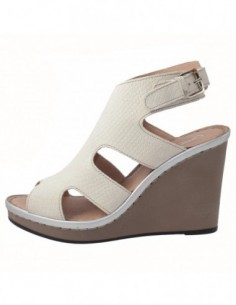 Sandale dama, piele naturala, marca Carla Sellini, Cod 7173054-J9-120, culoare alb murdar