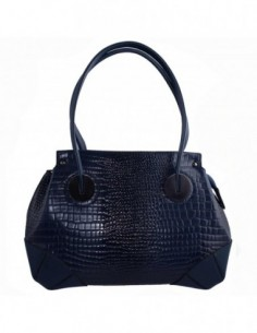 Poseta dama, piele naturala, marca Desisan, Cod 7135-42-26, culoare bleumarin