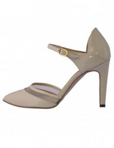 Pantofi dama, din piele naturala, marca Guban, 1090-E5-07, crem