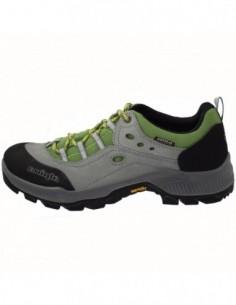 Adidasi barbati, piele si sintetic, marca Alpina, Cod 632A-1-49-23, culoare gri cu verde
