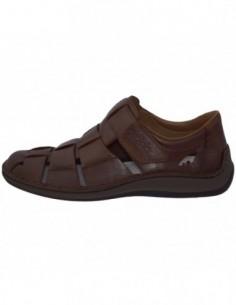 Pantofi perforati barbati, piele naturala, marca Rieker, Cod 05273-25-02-22, culoare maro