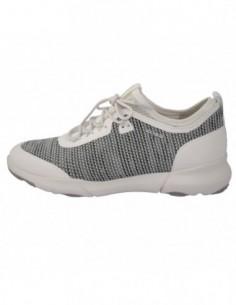 Adidasi dama, piele si sintetic, marca Geox, Cod D82BHA-96-06, culoare gri cu alb