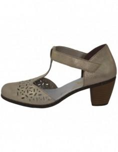 Pantofi decupati dama, piele naturala, marca Rieker, Cod 40966-62-03-22, culoare bej