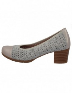 Pantofi perforati dama, piele naturala, marca Pitillos, Cod 5033-K0-132, culoare alb imprimat